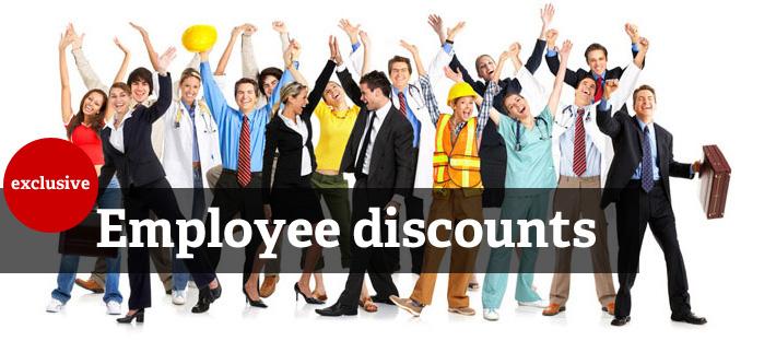 Exclusive employee discounts