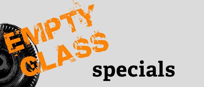 Empty Glass Specials