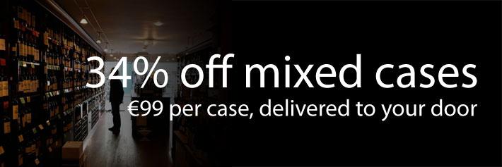 Mixed case wine deals: 34% off