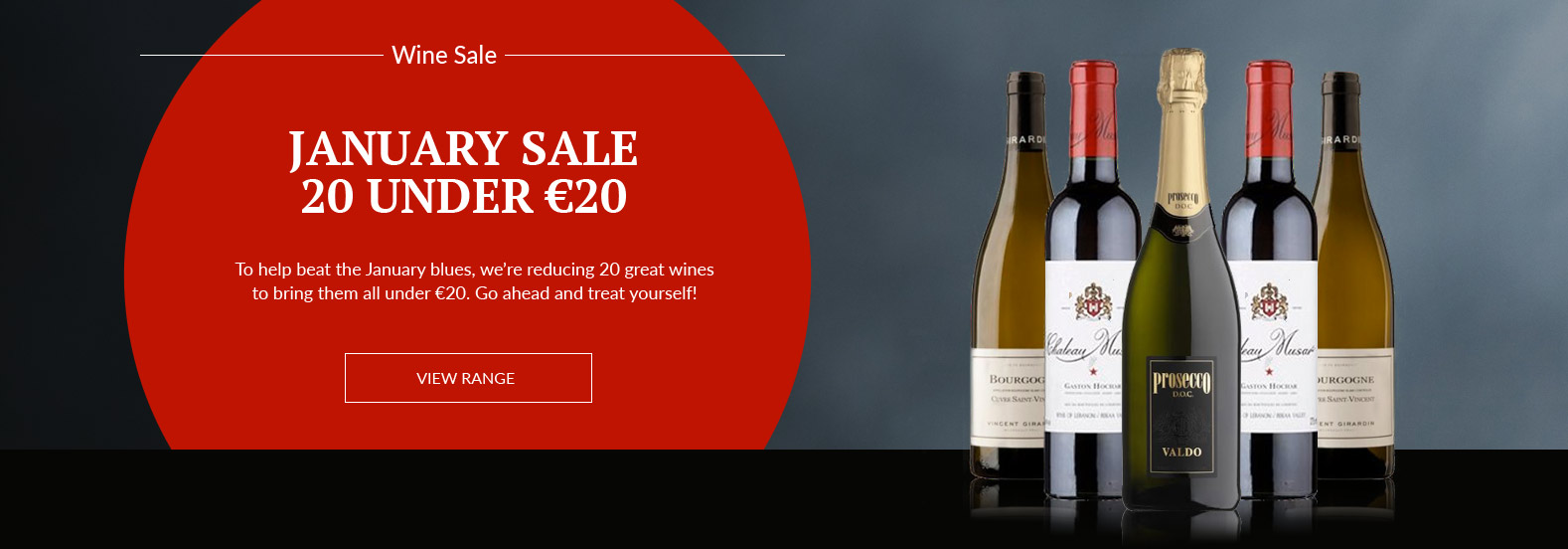 Selection of wines on sale