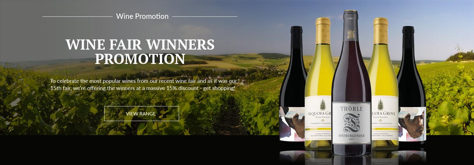 Wine Fair Winners Promotion - 15% Off